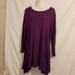 42pops plum tunic long sleeve round neck Size 2X